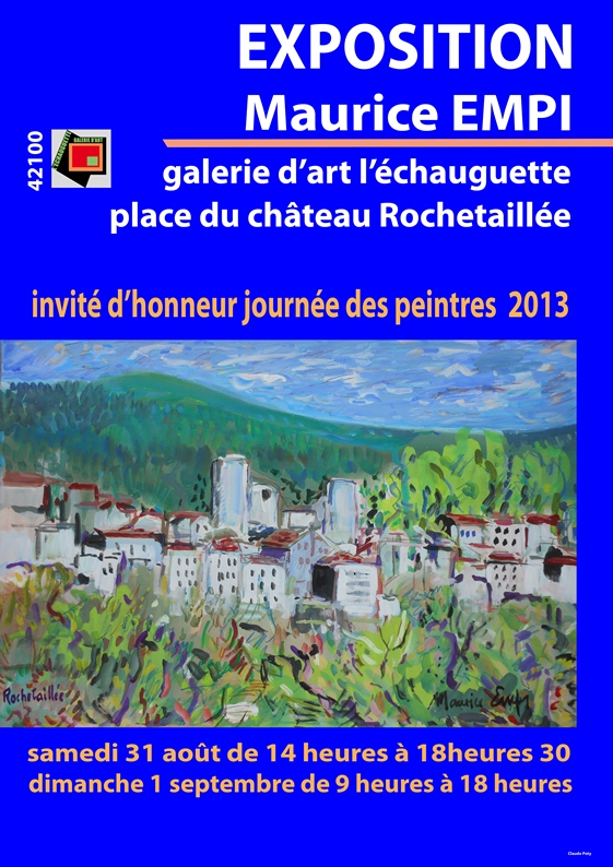 2013-Affiche expo Rochetaillée